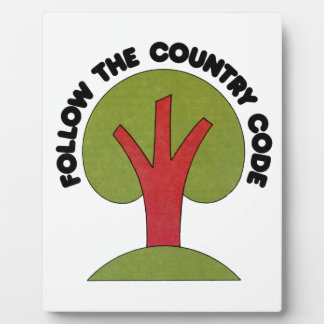 Follow The Country Code Plaque