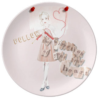 Follow the direction of your true heart knitter plate