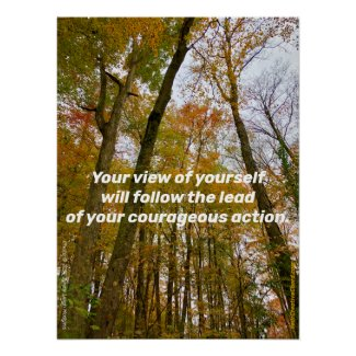 Follow the lead of your courageous action poster