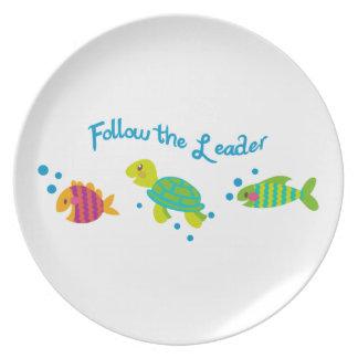 Follow The Leader Border Plate