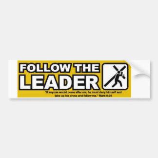 follow-the-leader bumper sticker