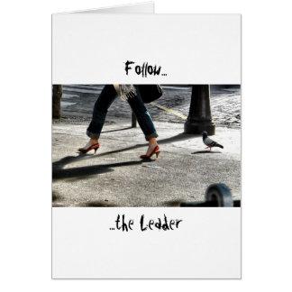 Follow the Leader Card