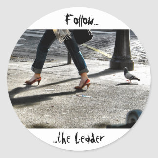 Follow the Leader Classic Round Sticker
