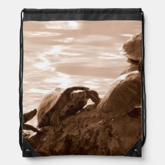Follow The Leader Drawstring Backpack