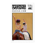 Follow the Leader Horse Postage Stamps