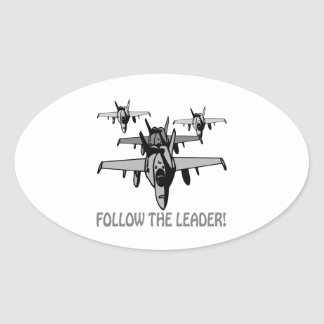 Follow The Leader Oval Sticker