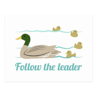 Follow The Leader Postcard