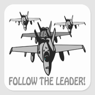 Follow The Leader Square Sticker