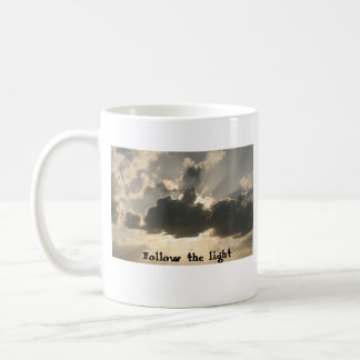 Follow the light clouds and sun mug