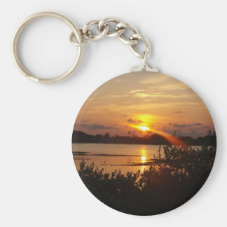 Follow the light home basic round button keychain