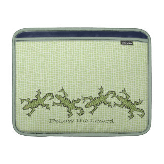 "Follow the Lizard 13"" horizontal MacBook Air Sleeve"