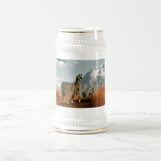 Follow the Llama Beer Stein