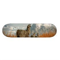 Follow the Llama Skateboard Deck