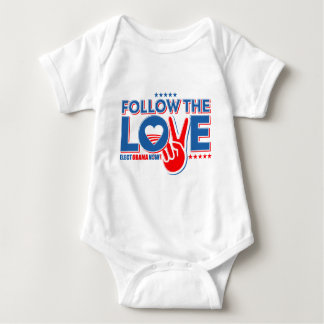 Follow The Love - Elect Obama Now Baby Bodysuit