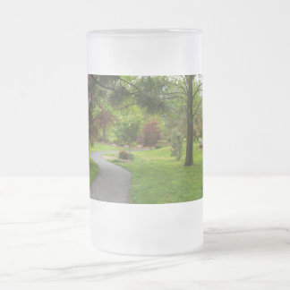 Follow The Path Pano Frosted Glass Beer Mug