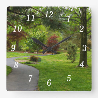 Follow The Path Pano Square Wall Clock