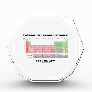 Follow The Periodic Table It's The Law (Chemistry) Acrylic Award