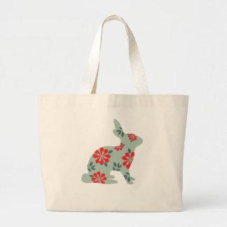 Follow the rabbit Alice matrix fair isle print Jumbo Tote Bag