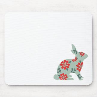Follow the rabbit Alice matrix fair isle print Mousepad