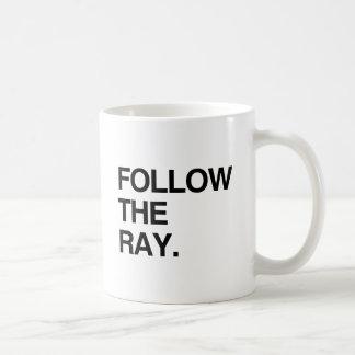 FOLLOW THE RAY CLASSIC WHITE COFFEE MUG