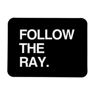 FOLLOW THE RAY RECTANGLE MAGNET