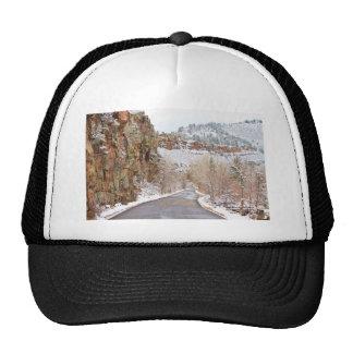 Follow The Red Rock Ridge Winter Road Trucker Hat