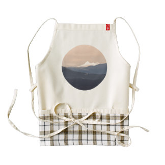 'Follow The River', apron, Zazzle Heart Zazzle HEART Apron