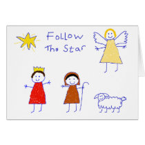 Follow The Star Card
