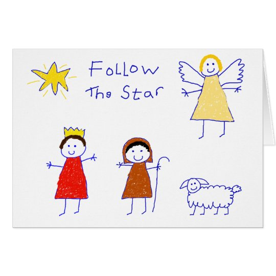 Follow The Star Card