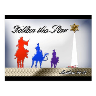 Follow the Star Greeting Card Postcards
