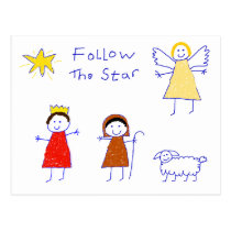 Follow The Star Postcard