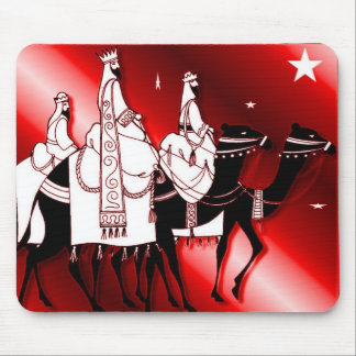 Follow the star red mouse pad