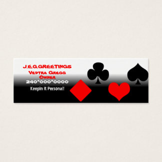 Follow the Suits! Mini Business Card
