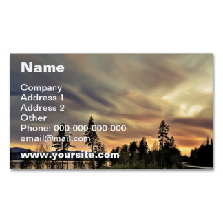 Follow the Sun Magnetic Business Card