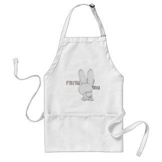 follow the white rabbit apron
