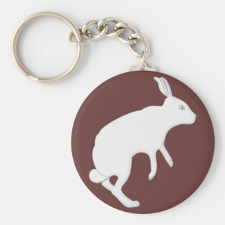 follow the white rabbit basic round button keychain