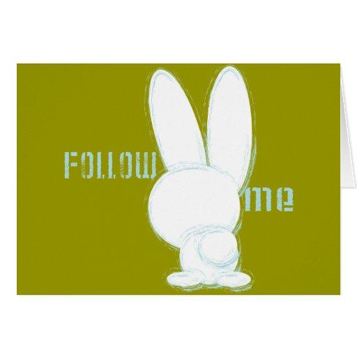 follow the white rabbit card