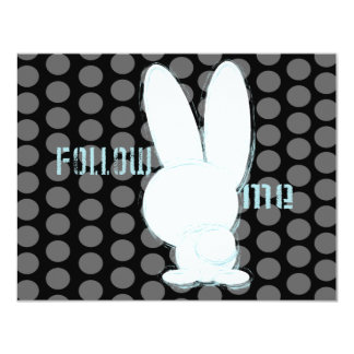 follow the white rabbit custom invitation