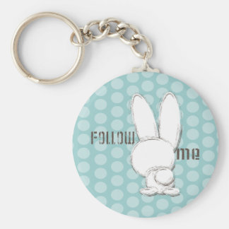 follow the white rabbit keychain