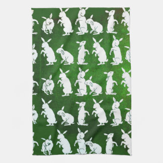 Follow the White Rabbit kitchen towel