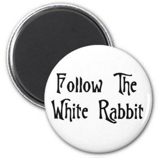 Follow The White Rabbit Magnet
