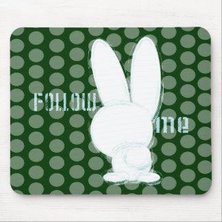 follow the white rabbit mouse pad
