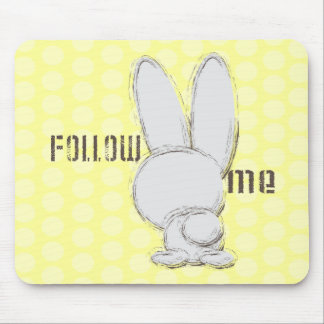 follow the white rabbit mouse pad