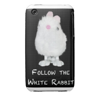 Follow the White Rabbit on Black iPhone 3 Case-Mate Cases