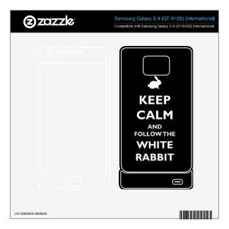 Follow the White Rabbit phone Skin Samsung Galaxy Samsung Galaxy S II Skin