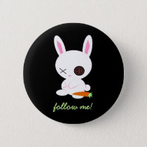 Follow the White Rabbit pin