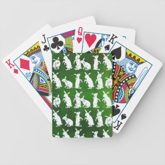 Follow the White Rabbit playing cards