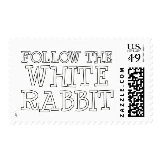 Follow The White Rabbit Postage