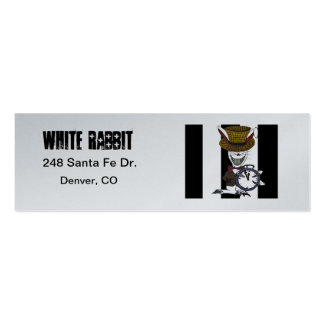 """Follow the White Rabbit"" Skinny Platinum Cards Business Cards"