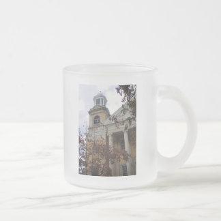 Follow the Yellow Brick Church Frosted Glass Coffee Mug